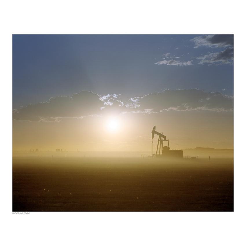 Noble Oil pump jack, eastern Colorado oil field (Kodak Portra 400, Mamiya RZ67)
