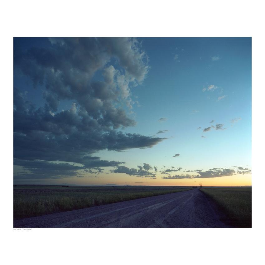 Weld County sunset near Grover, Colorado (Kodak Portra 400, Mamiya RZ67)