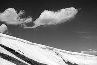 Clouds, Cornice, Snowfield, Old Fall River Road, RMNP