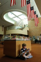 Matthew at the Ford Library, Ann Arbor