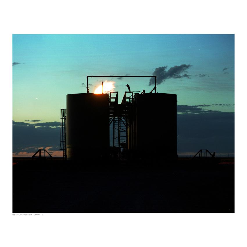Oil tank farm outside of Grover, Colorado (Kodak Portra 400, Mamiya RZ67)