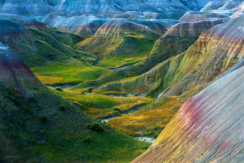 Late afternoon in Badlands National Park, South Dakota.