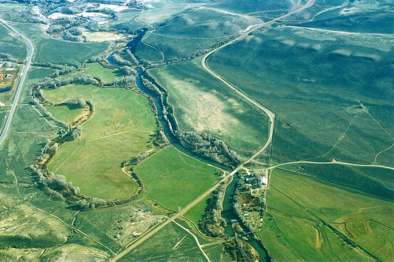 Aerial photographs of western Colorado.