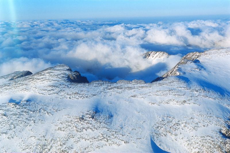 Aerial photographs of Rocky Mountain National Park, Colorado.