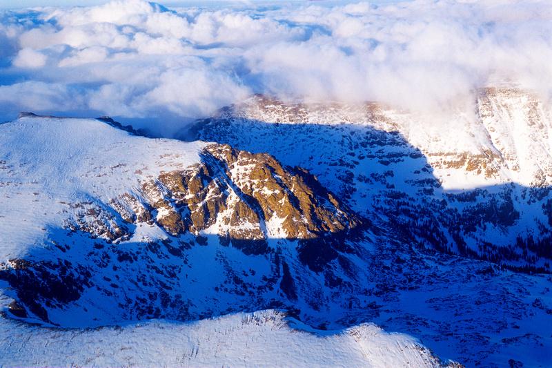 Aerial photographs of Rocky Mountain National Park, Colorado