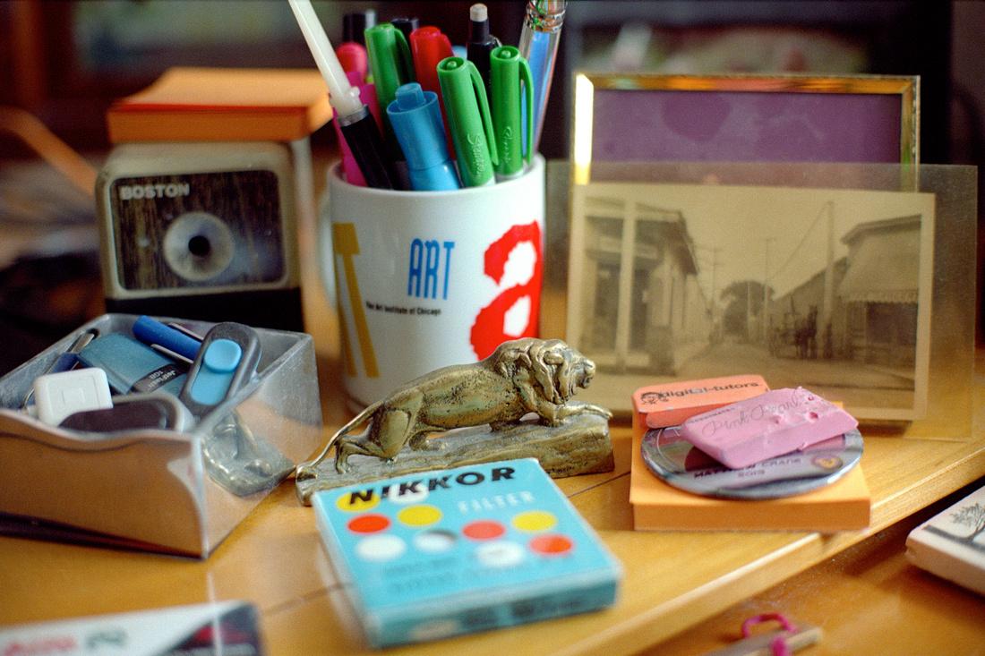 Desk, Fort Collins, Colorado. Nikon F2, Kodak Portra 160 developed in Cs41 Color Simplified Kit from Cinestill.