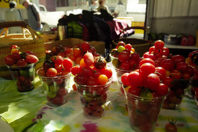 Cherry tomatos at the Santa Fe Farmer's Market (2014)