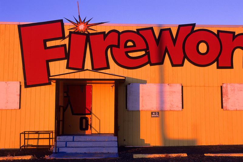 Fireworks, Tie Siding, Wyoming (Fuji Velvia 100)