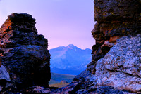 Longs Peak through Rock Cut, Rocky Mountain National Park, Colorado